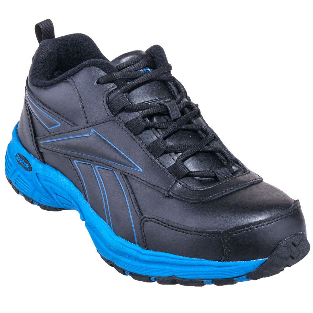 Reebok RB4830 Steel Toe Black/Blue EH Athletic Work Shoes