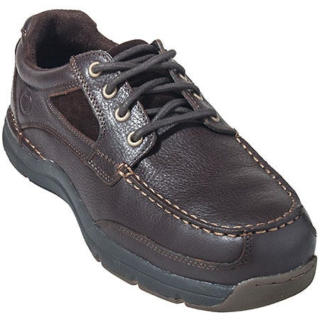 Rockport Works Shoes: Men's RK6725 Brown ESD Composite Toe Boat Shoes