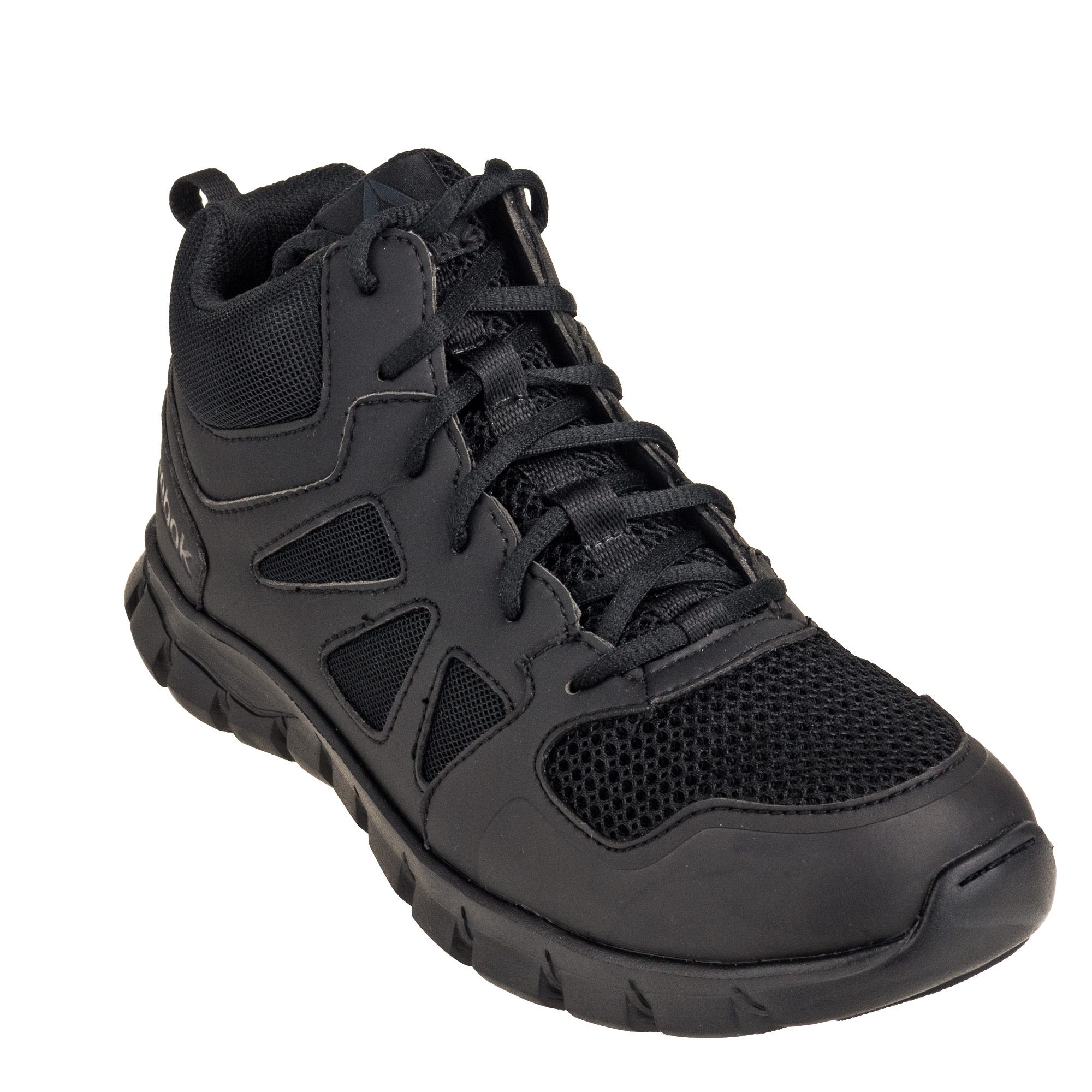 Reebok Women's Black RB805 EH Sublite Cushion Mid Tactical Boots