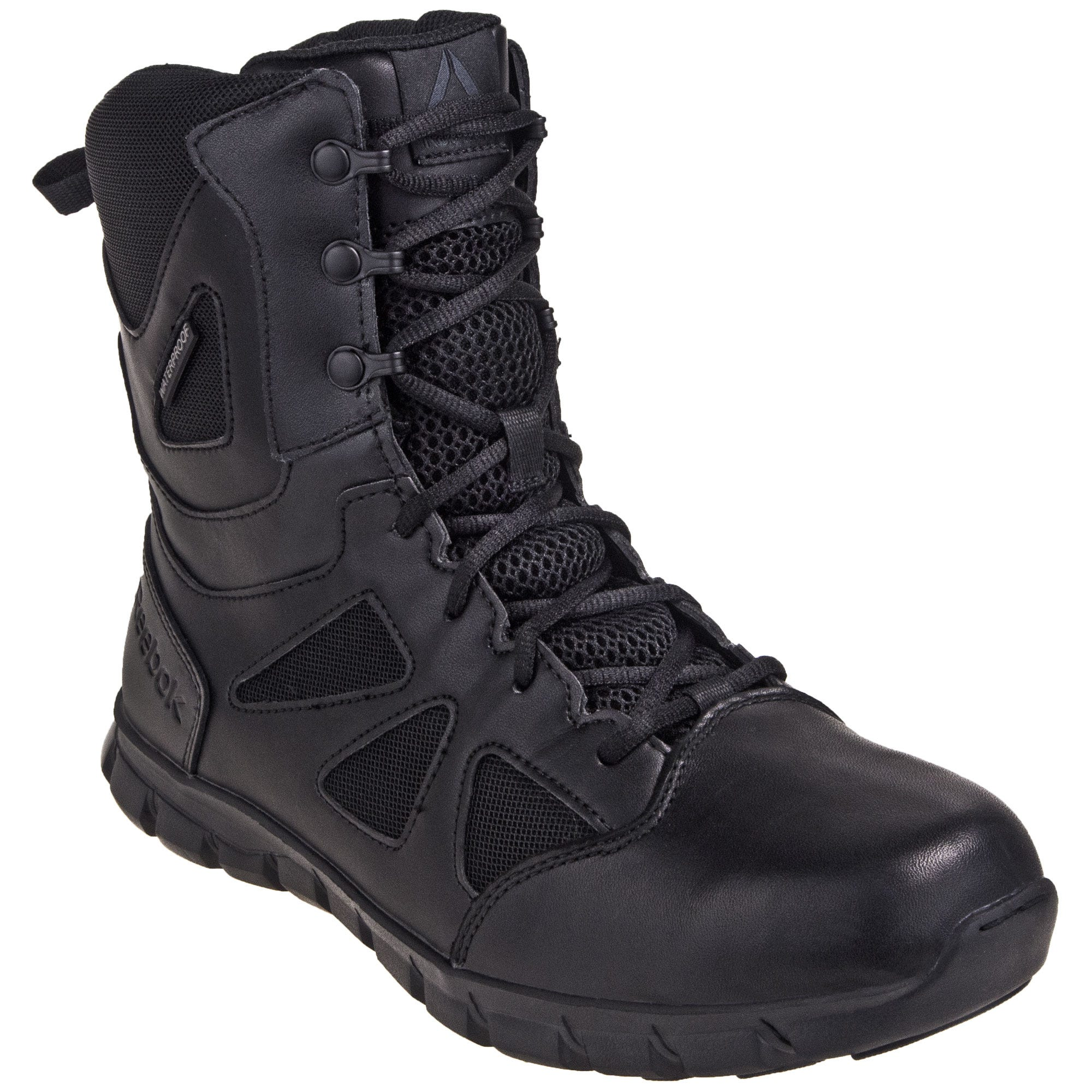 Reebok Women's Black Waterproof EH Sublite 8-Inch Cushion RB806 Tactical Boots