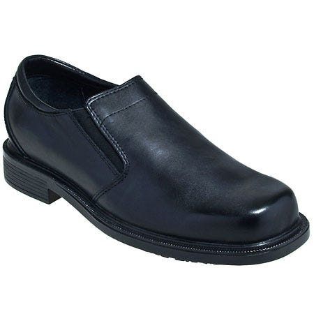 Rockport Works Shoes: Men's Black Non Metal Slip On Dress Shoes RK6523