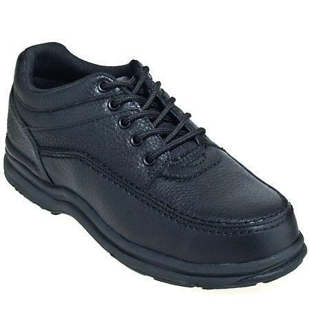 Rockport Works Mens' RK6761 World Tour Black Leather Steel Toe Oxford Shoe