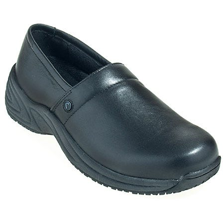 Rockport Works Shoes: Men's RK6090 Black Non Metal Slip-Resistant Clog Shoes