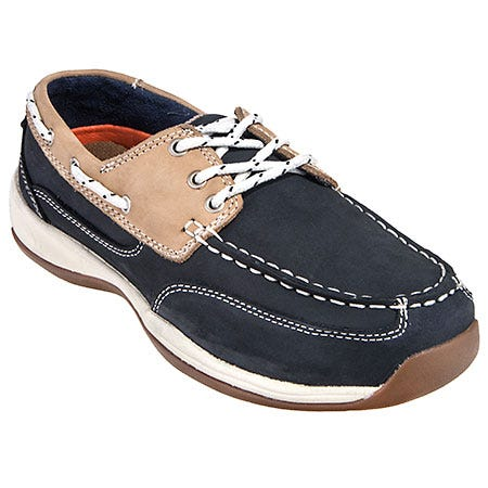 Rockport Works Shoes: Women's RK670 Steel Toe Navy ESD Boat Shoes