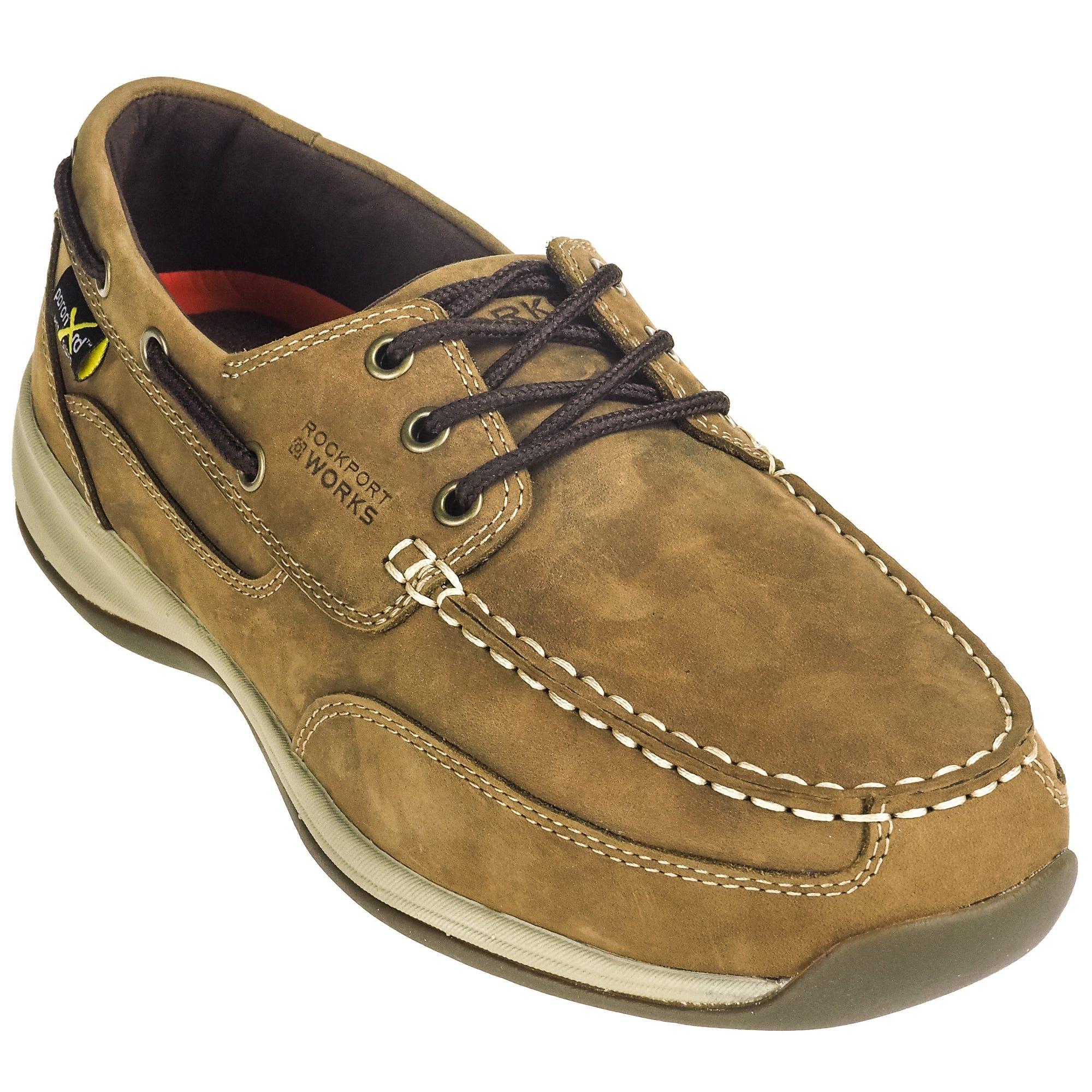 Rockport Works RK6734 Men's Internal Met Guard Steel Toe Boat Shoes