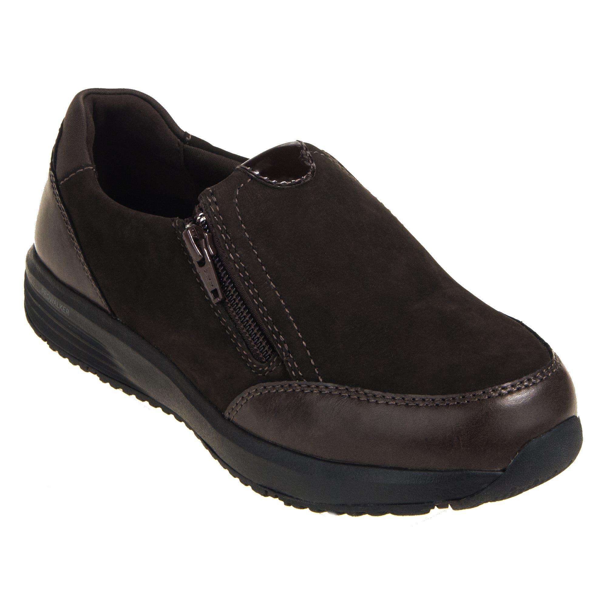 Rockport Trustride Women's Brown EH Steel Toe Side Zip Slip-On RK501 Work Oxfords