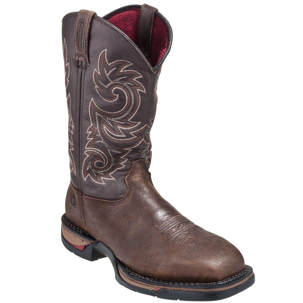 Steel toe cowboy boots howdens loft hatch