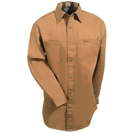 Best price carhartt shirts men 39 s brown s296 brn canvas for Mens chocolate brown dress shirt