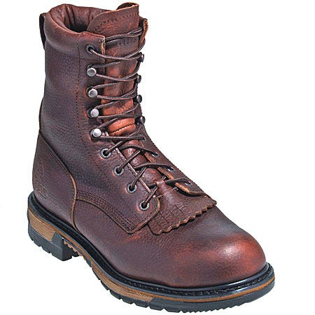 Rocky Boots Men's Steel Toe Leather Western Work Boots 6717