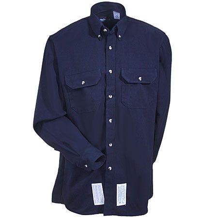Bulwark Shirts: Men's SMU2 NV Navy Cool Touch 2 Twill Uniform Shirt Sale $67.00 Item#SMU2NV :