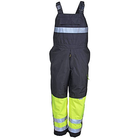 Occunomix Overalls: SP BIB YLW Reflective Waterproof Insulated Bib Overalls