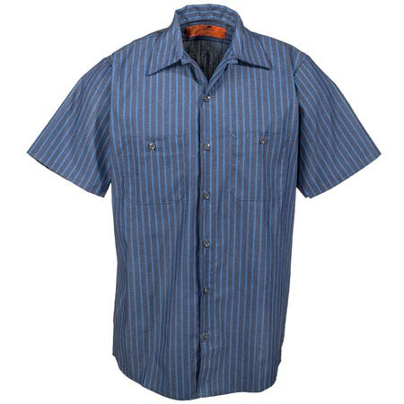 Red Kap Shirts Men 39 S Sp24 Ex Industrial Blue Striped Work
