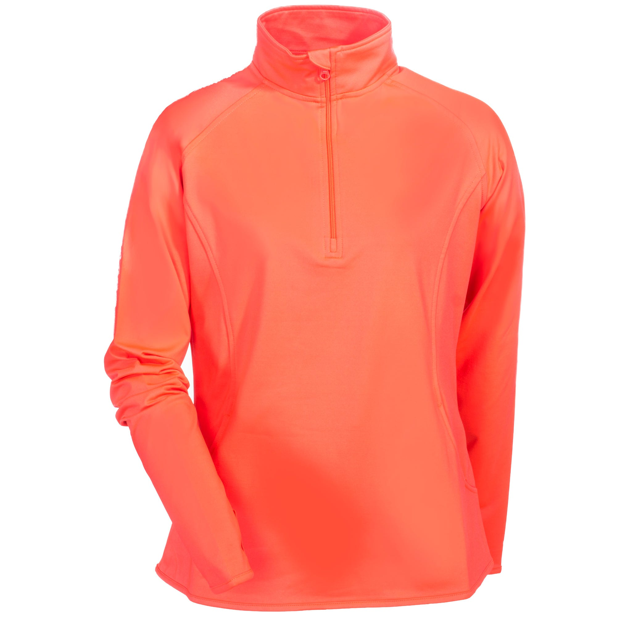 Sport-Tek Women's LST850 HTC Sport-Wick Hot Coral 1/2 Zip Pullover Sweatshirt