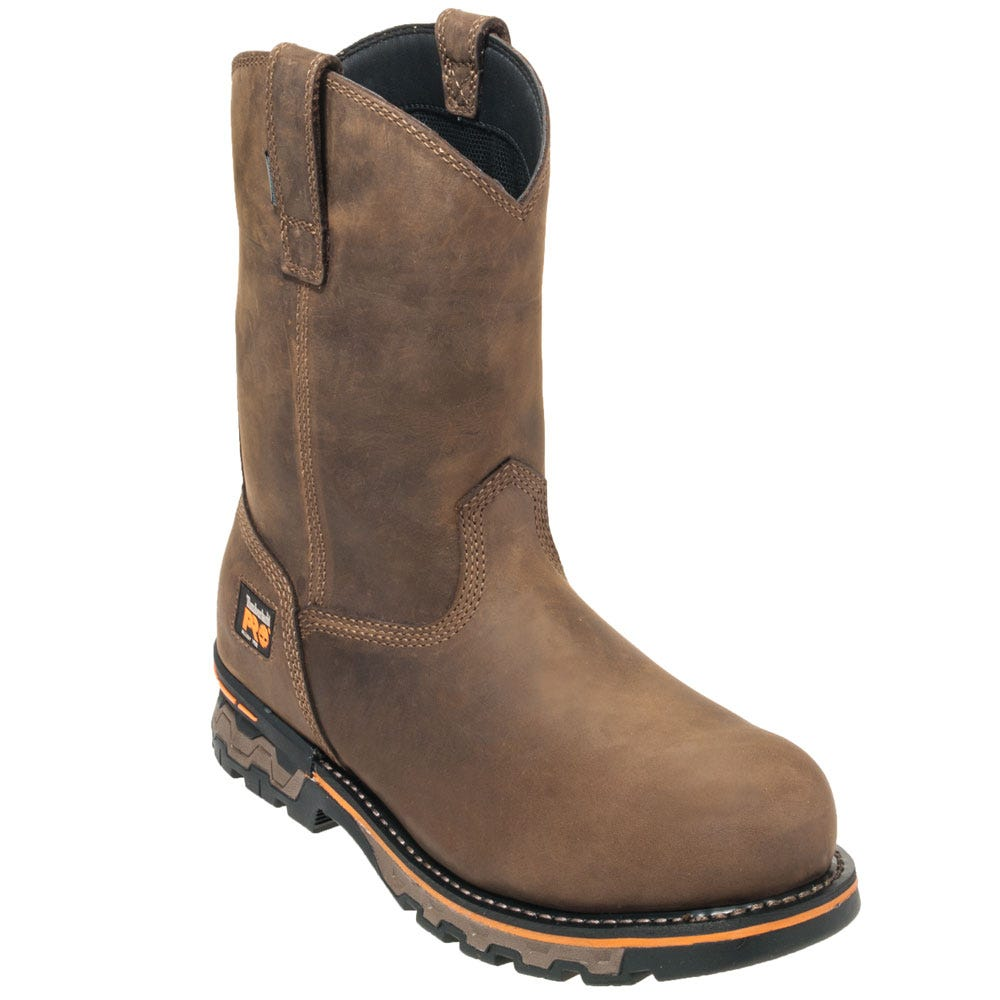 Timberland PRO Boots: Men's TB01053A 214 Brown Ag Boss Pull On Boots