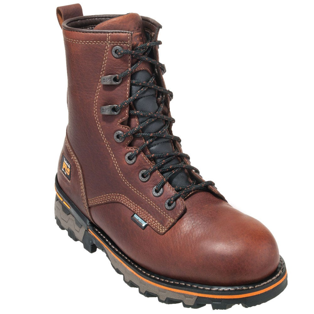 Timberland PRO Boots: Men's TB01113A 210 Brown Boondock 8″ Waterproof Boots