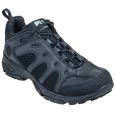 Timberland Shoes: Men's Black 90667 Valor EH Slip Resistant Oxford Shoes
