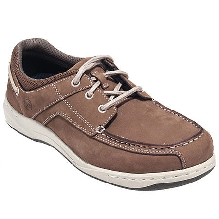 Timberland PRO Shoes: Men's Brown 90672 Bryson Slip Resistant Alloy Toe Boat Shoes Sale $120.00 Item#90672 :
