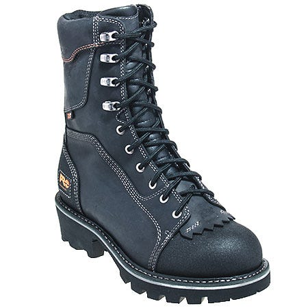 Timberland PRO Boots: Men's Black 91641 Slip Resistant Insulated Logger Boots