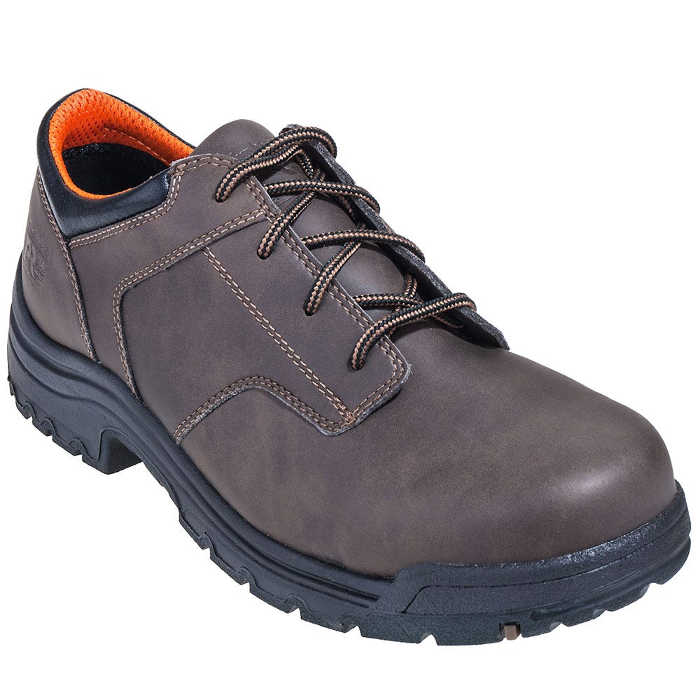Timberland PRO Shoes: Men's Brown TB092657214 TiTAN Composite Toe Oxford EH Shoes