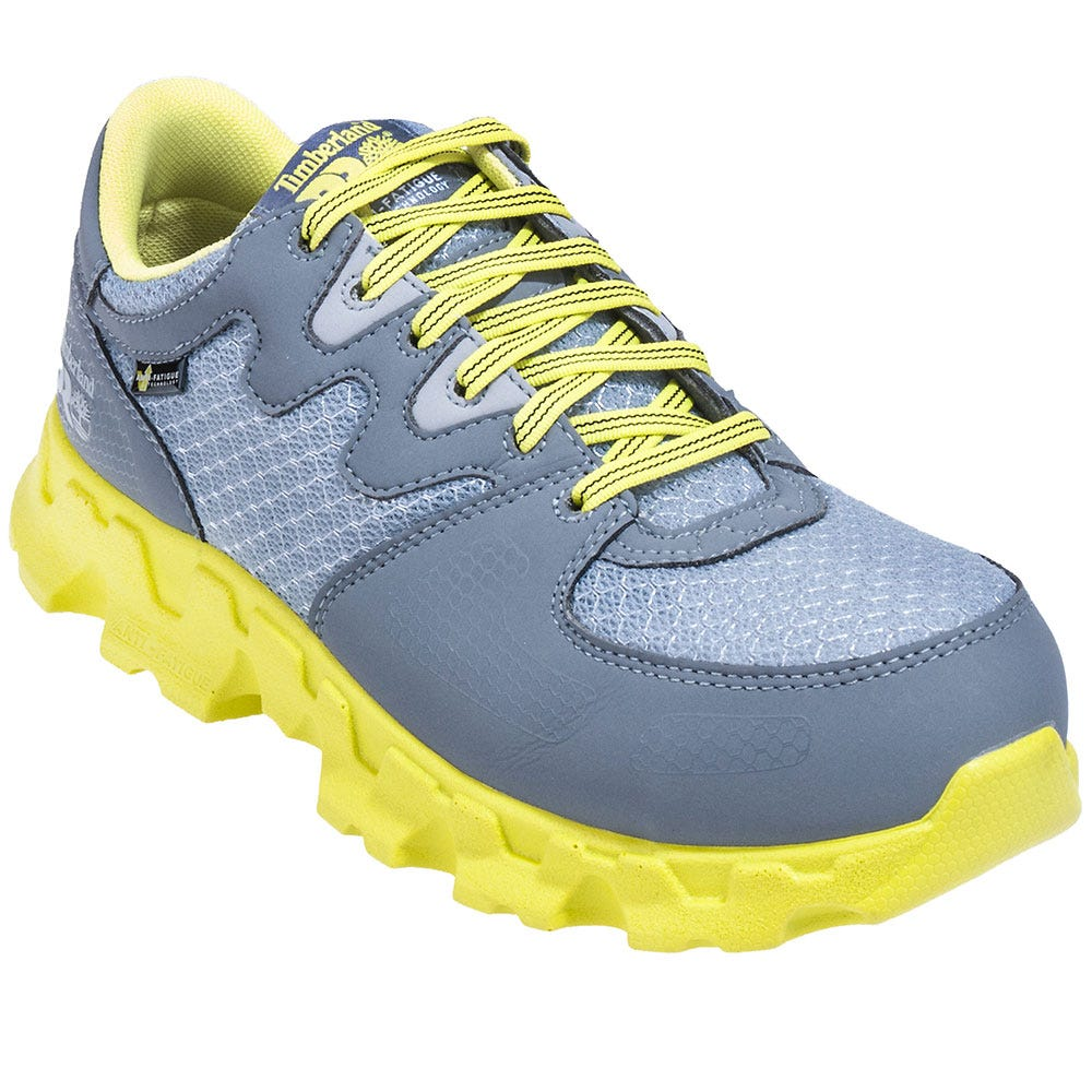Timberland PRO Shoes: Women's Grey/Green 92672 Powertrain EH Alloy Toe Shoes
