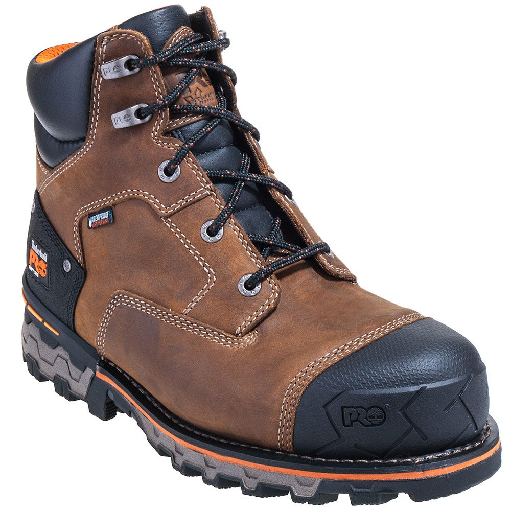 Timberland PRO Boots: Men's Brown 92673 Boondock 6 Inch EH Waterproof Boots
