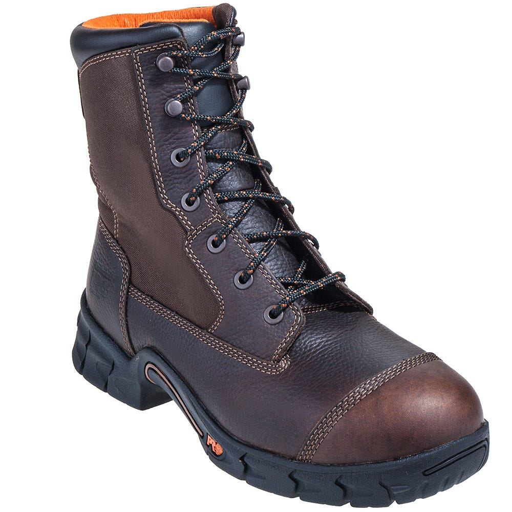 Timberland PRO Boots: Men's Brown 92674 Excave 8 Inch EH Steel Toe Boots