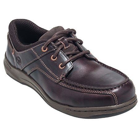 Timberland PRO Shoes: Men's Brown 89663 Alloy Safety Toe EH Oxford Work Shoes Sale $115.00 Item#89663 :
