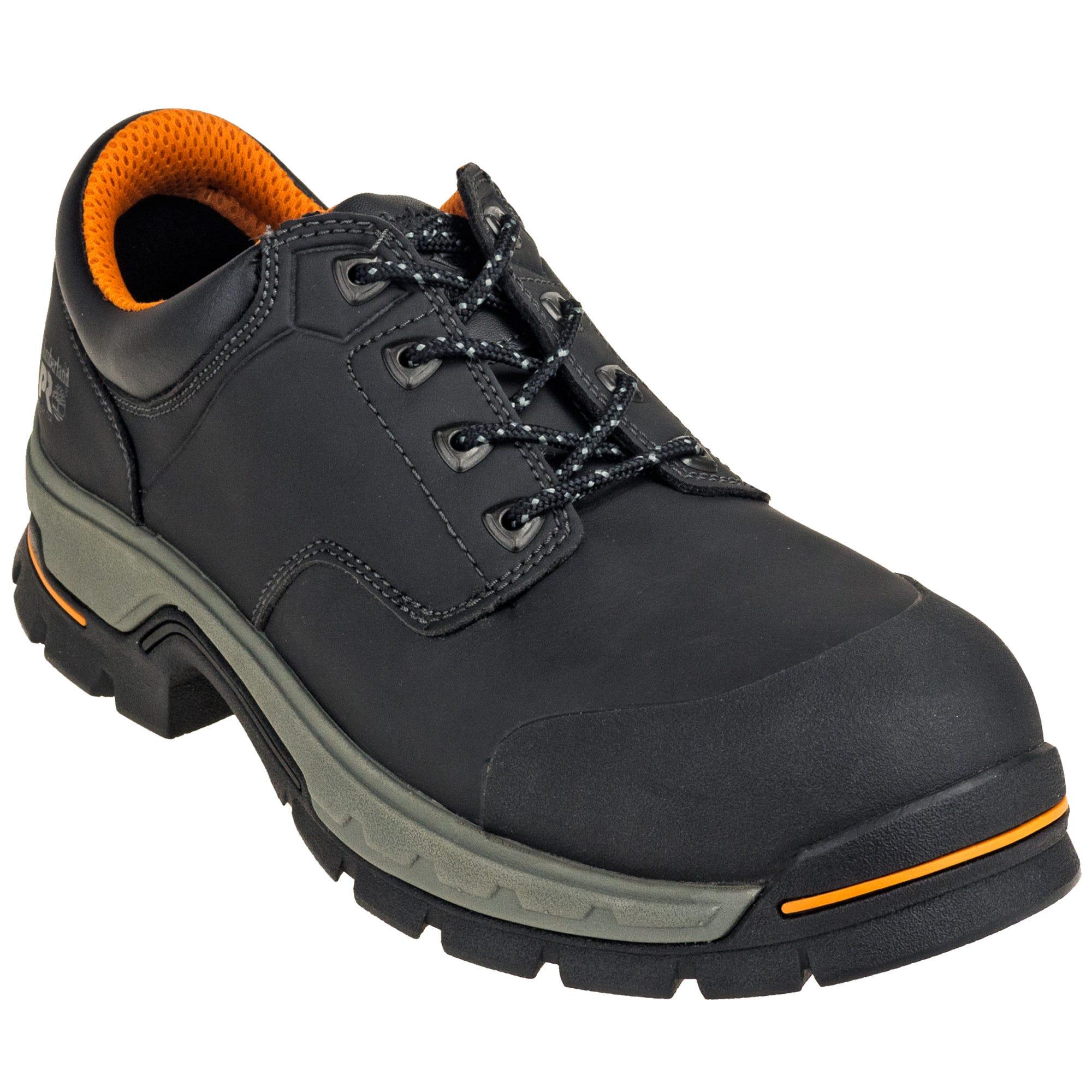 Timberland PRO TB01100A 001 Black Alloy Toe EH Stockdale Raptek Microfiber Work Shoes