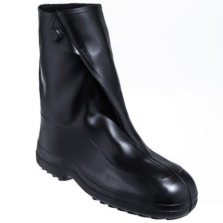 Tingley Men's Black 1400 Waterproof Slip-Resistant Rubber Overshoes
