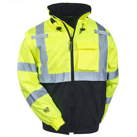 Tingley Jackets: Men's High-Visibility Waterproof J26112 Insulated Hooded Jacket