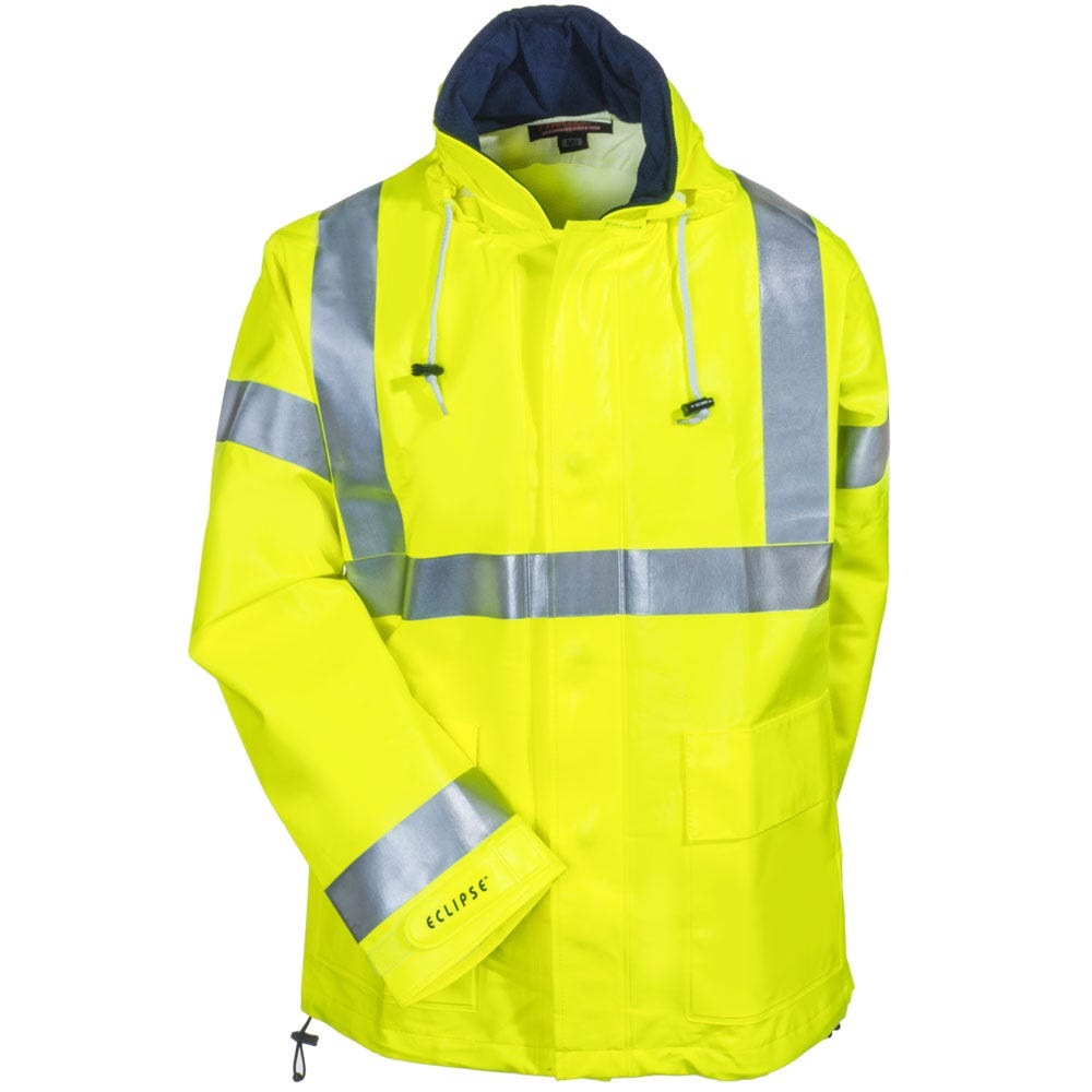 d798d0764339 Tingley Rubber Men s J44122 Yellow Eclipse Flame Resistant Hooded Jacket