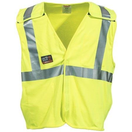 Tingley Rubber Men's V81522 High Visibility FR Yellow Cotton Blend Vest