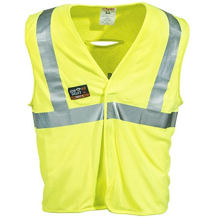 Tingley Rubber Men's High Visibility Yellow FR V81622 Reflective Safety Vest