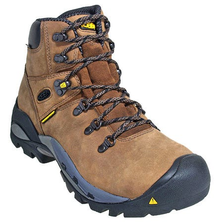 Keen Boots: Men's Steel Toe 1007029 Brown Waterproof Cleveland EH Work Boots