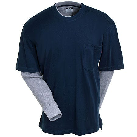 Best Price Wolverine Shirts: W1103800 417 Men's Navy 2 ...
