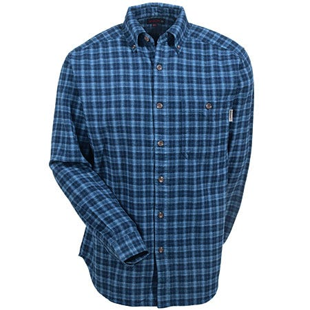 Wolverine W1121000-417 Navy Flannel Plaid Shirt-Medium