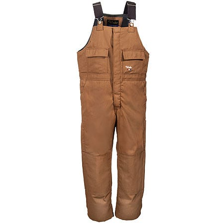 Walls Overalls: Men's Brown Cotton Duck Insulated Bib Overalls 93053 BW Sale $69.00 Item#93053-BW :
