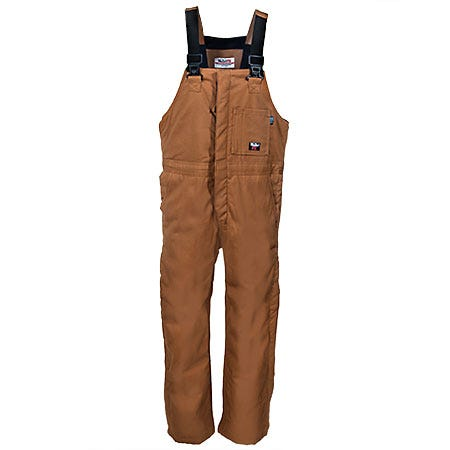 Walls Overalls: Men's Insulated Fire-Resistant Duck Bib Overalls FRO93376 BW