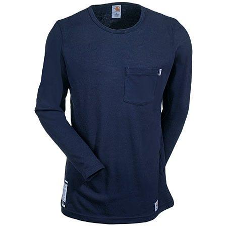 Carhartt Shirts: Women's Navy WFRK294 DNY Flame-Resistant T-Shirt Sale $69.00 Item#WFRK294DNY :