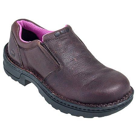 Wolverine Women's Steel Toe 10192 EH Bailey Slip On Brown Shoes