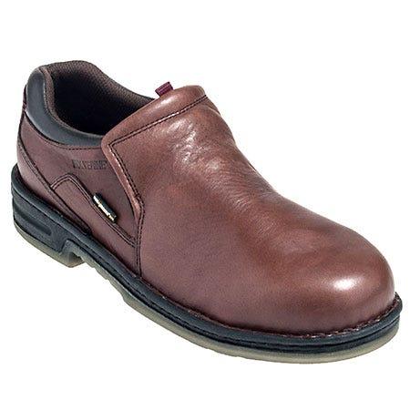 Wolverine Shoes: Men's Brown 4999 Marcum Steel Toe Durashocks EH Work Shoes Sale $120.00 Item#4999 :
