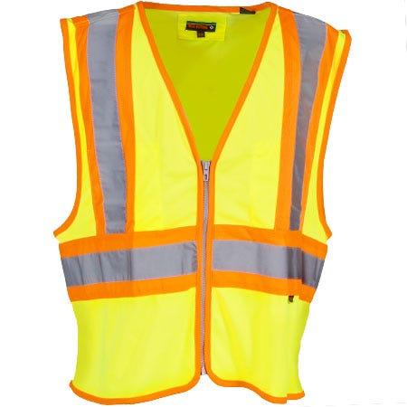 Wolverine Clothing Unisex Green 1108900 320 Hi Vis Mile Marker Mesh Safety Vest
