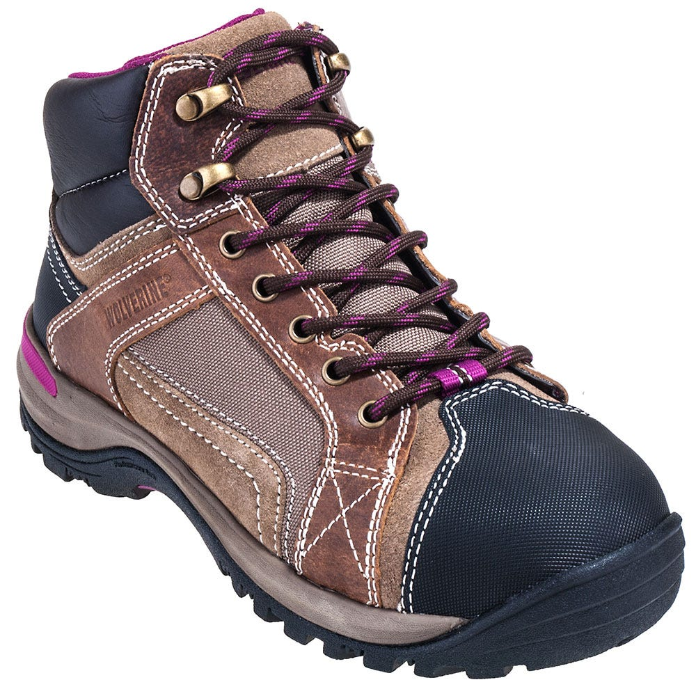Wolverine Boots Women's Steel Toe Hiking Boots 10349