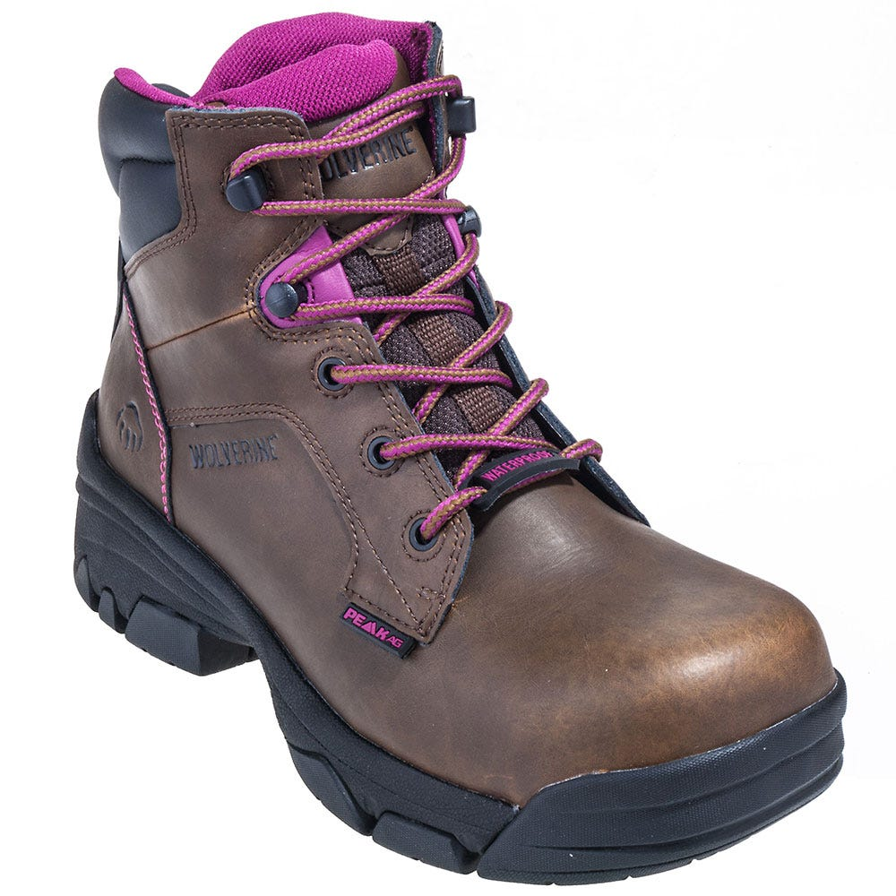Wolverine Women's 10383 Brown Merlin EH Composite Toe Boots