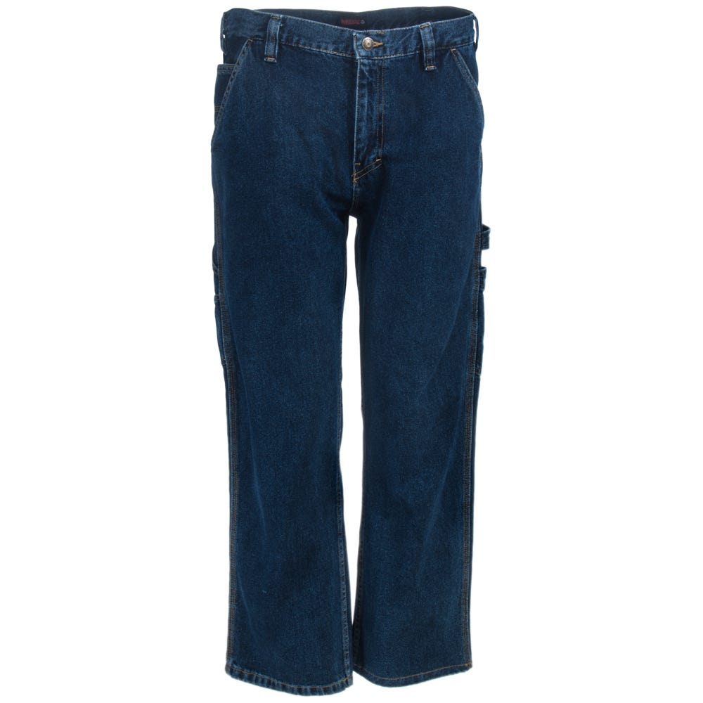 Wolverine Jeans: Men's W1101200 401 Dark Blue Denim Hammer Loop Carpenter Jeans