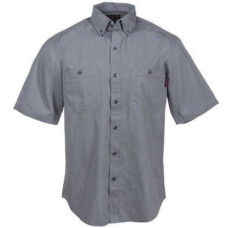 Wolverine Clothing Men's Grey W1138600 023 Cotton Ripstop Sledgehammer Work Shirt