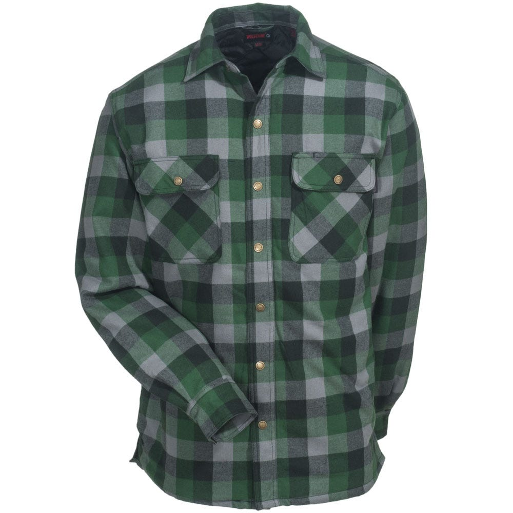 Quilted Flannel Shirt Jacket