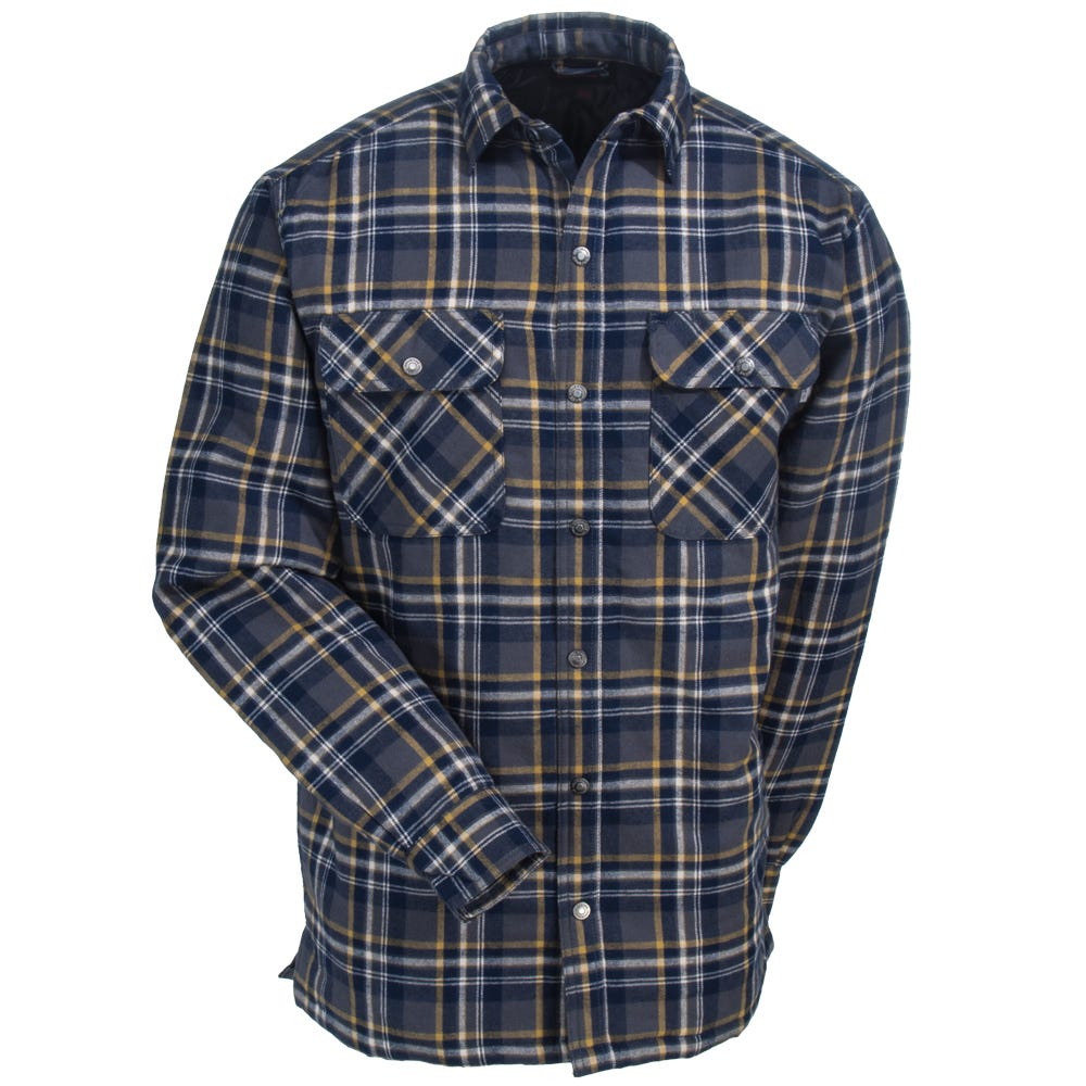 9de3c01363f Wolverine Shirts  Men s W1200440 435 Blue Plaid Forester Shirt ...