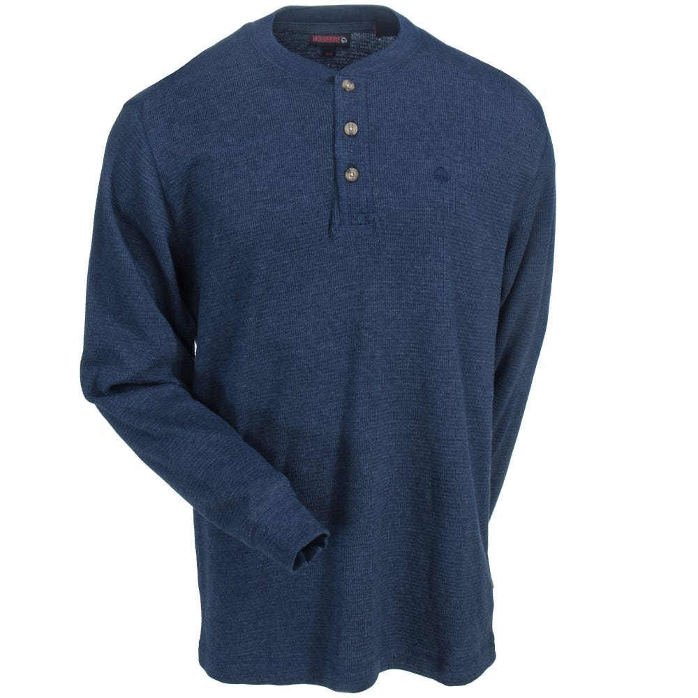 Wolverine   Shirt   Navy   Blue   Men
