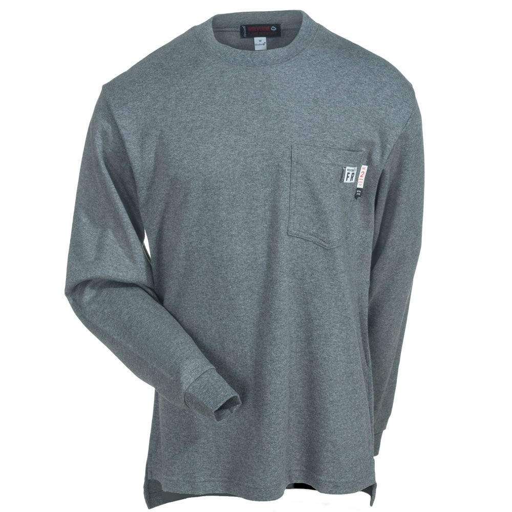 Wolverine Shirts Men S W1203290 025 Flame Resistant Grey